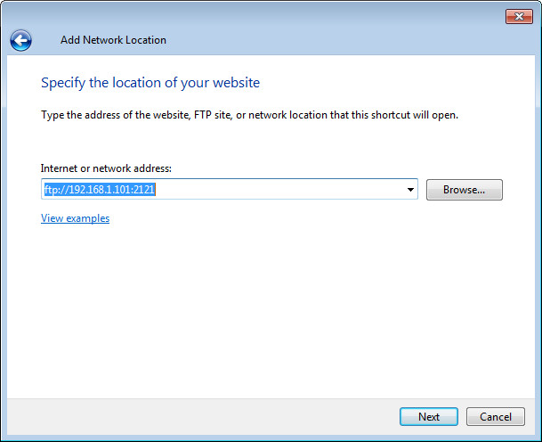 add network location step3