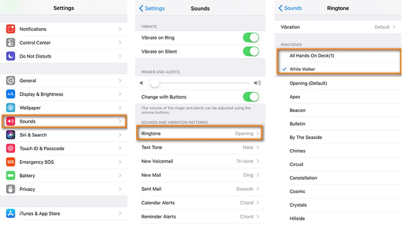 find Sounds setting on iOS 12