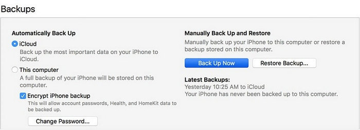 backup iphone whatsapp with iTunes