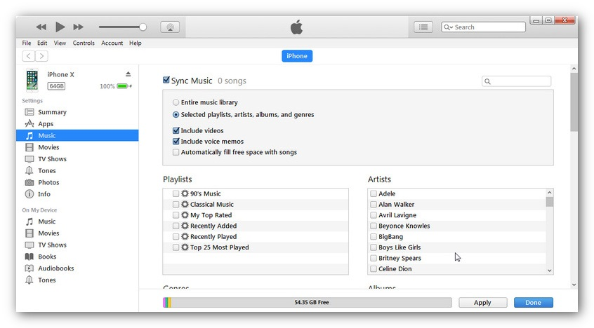 sync itunes music to iphone 8