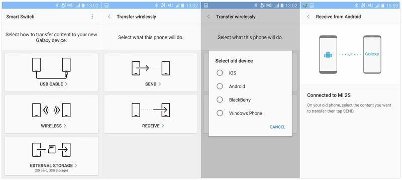 transfer old Android phone contents to Samsung Galaxy Note 9