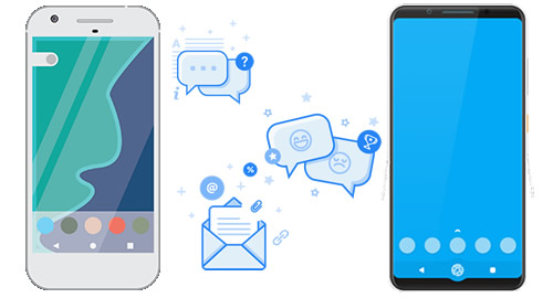 transfer messages from android to android
