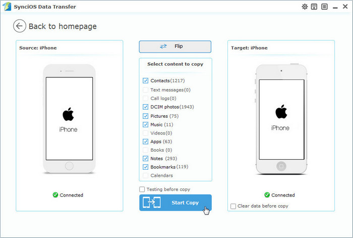 transfer files from iPhone to new iPhone
