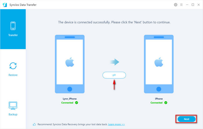 iPhone to Samsung Galaxy S8 data transfer