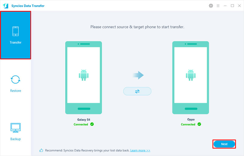 transfer data from Samsung to oppo f11