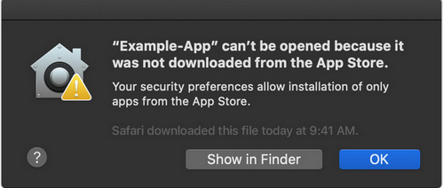 cannot open apps downloaded from other ways