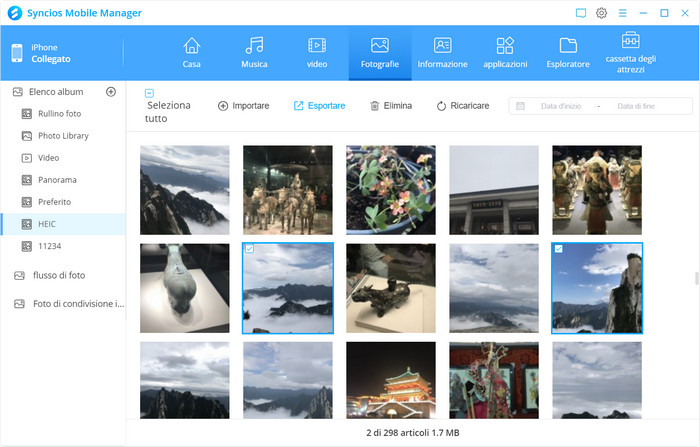 export photoS from android/iOS to PC
